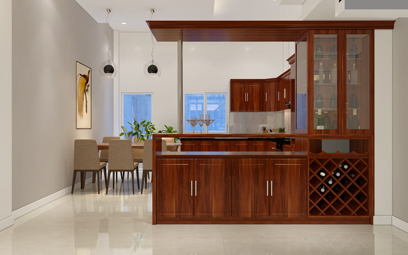 Không gian nhà bếp đơn giản hiện đại