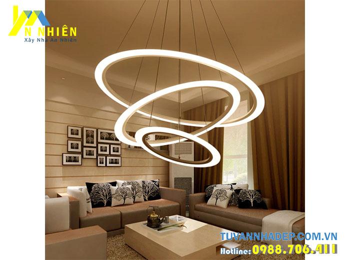 đèn trần độc lạ cho phòng khách