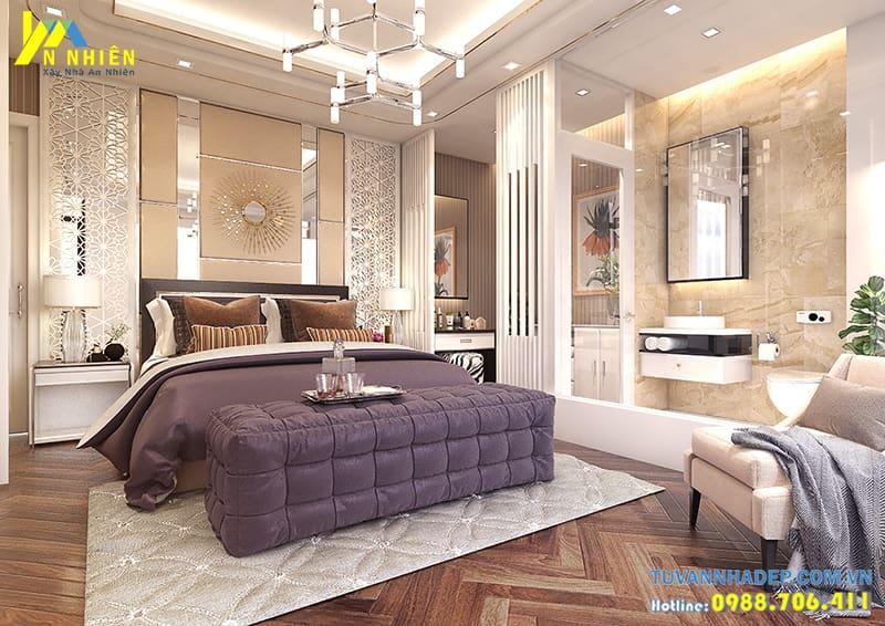 Nội thất được lựa chọn phù hợp với diện tích căn phòng và đảm bảo sự tiện nghi