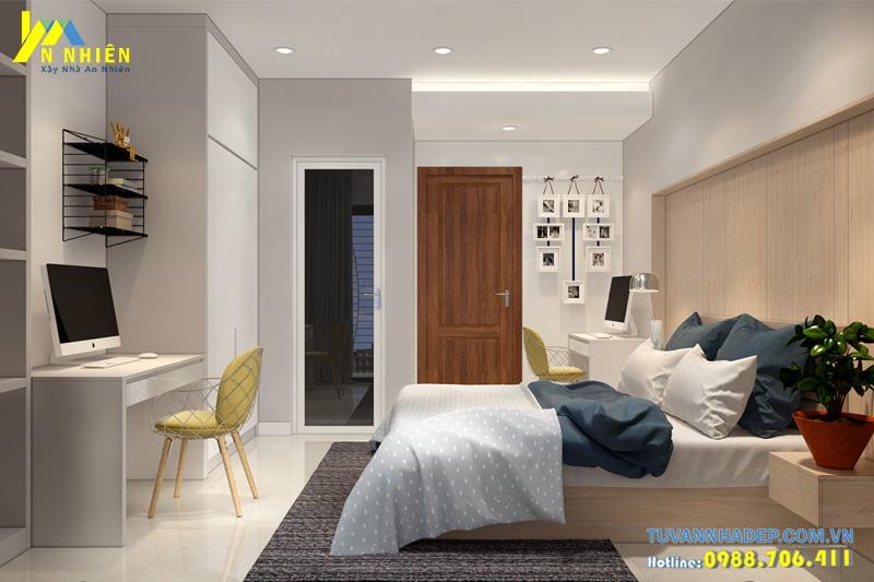 Không gian phòng ngủ thiết kế tối giản