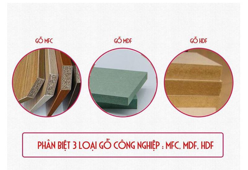 phân biệt gỗ mdf với mdf và hdf