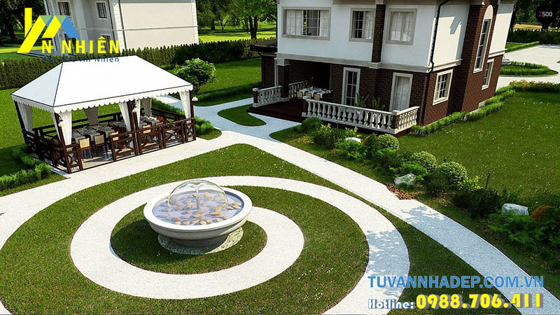 sân vườn được thiết kế đẹp mắt