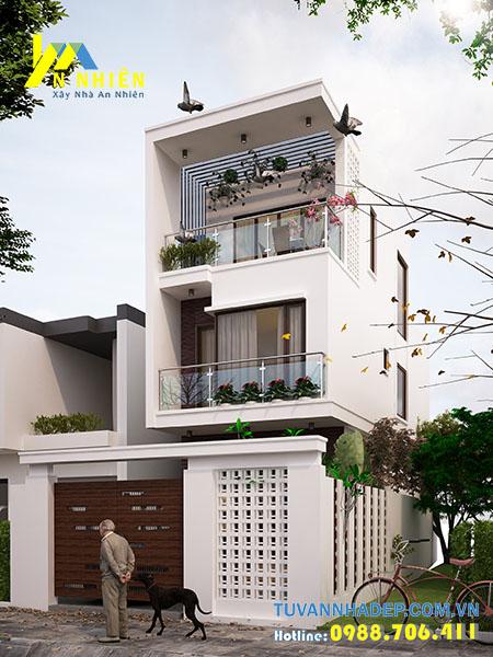 bản thiết kế nhà phố 3 tầng ngang 6m