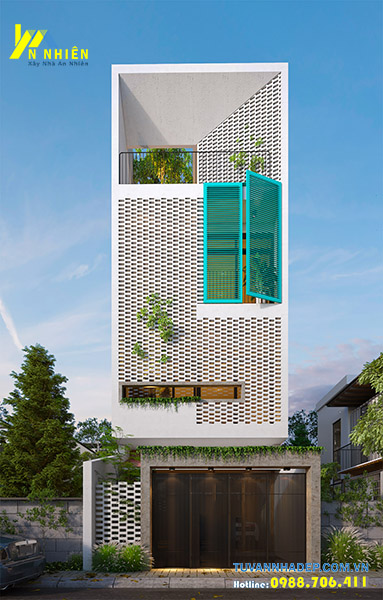 hình ảnh nhà phố 3 tầng ngang 6m hiện đại