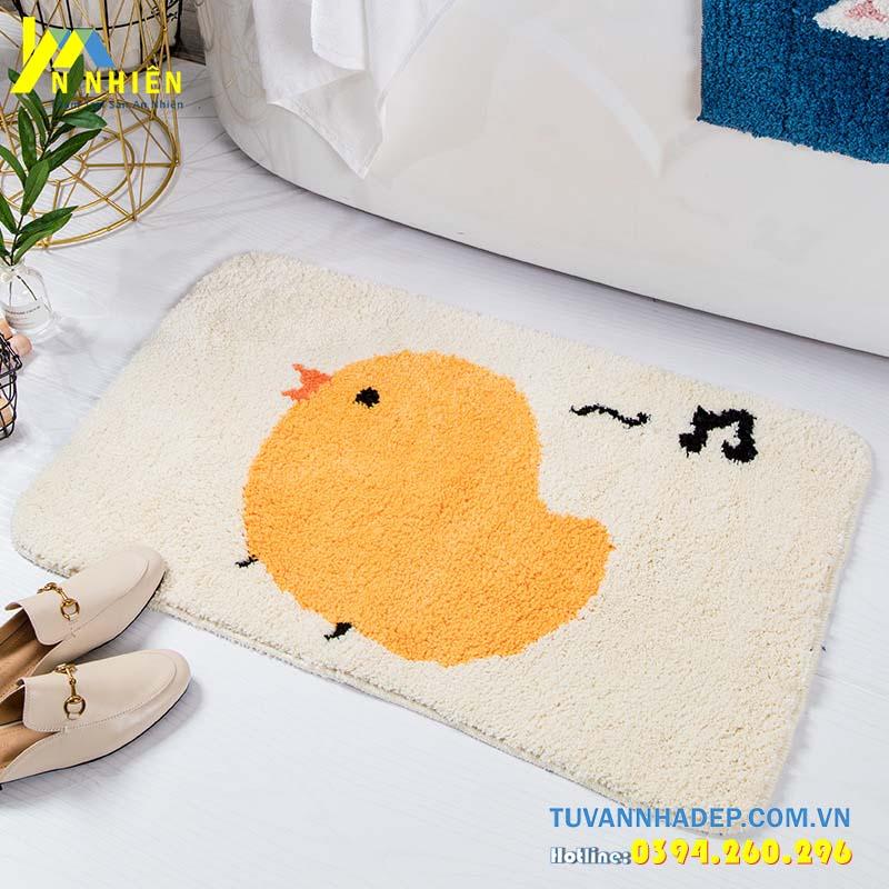 thảm chùi chân hình con gà
