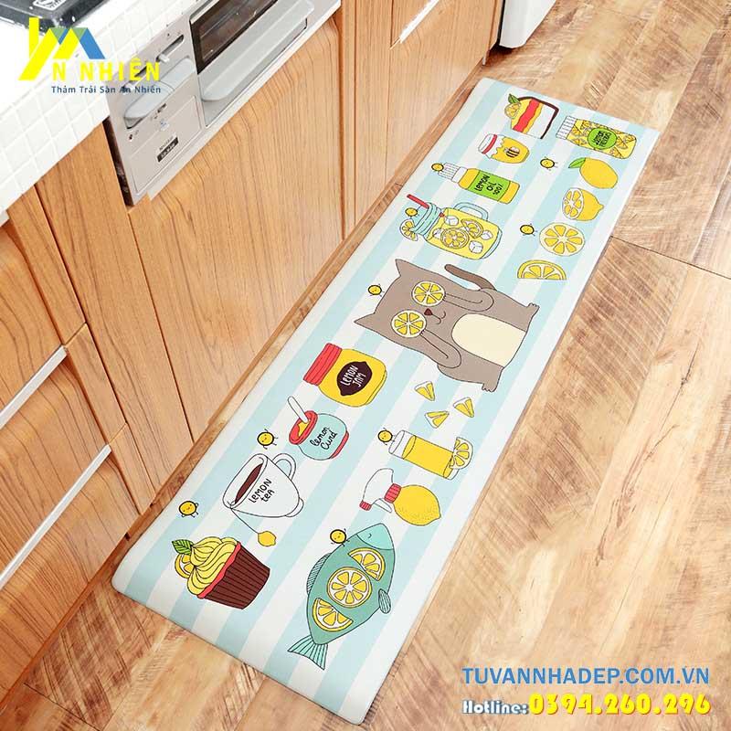 trang trí nhà ở bằng thảm trải sàn nhà bếp