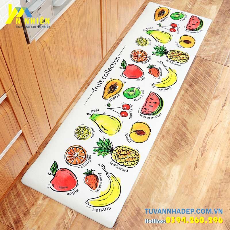 thảm trải sàn nhà bếp hình hoa quả