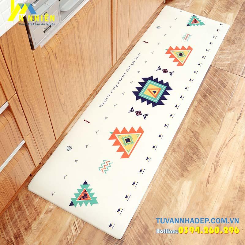thảm trải sàn nhà bếp họa tiết