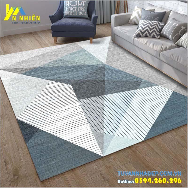 thảm trải sàn phòng khách họa tiết hiện đại