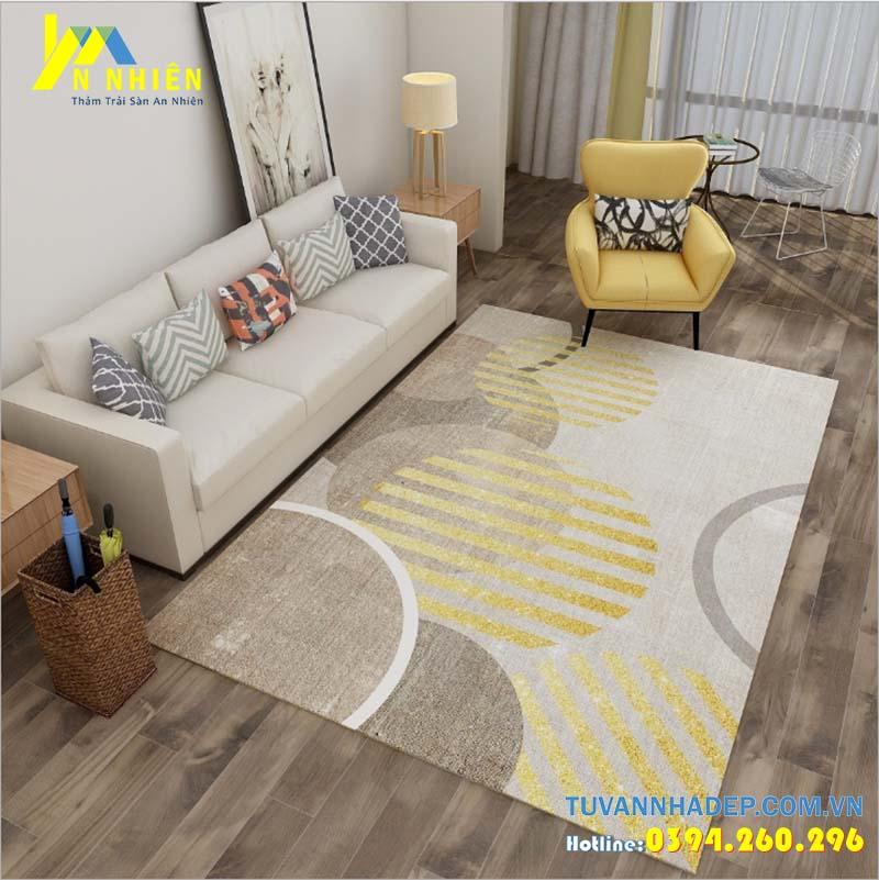 trang trí phòng khách với thảm trải sàn đẹp