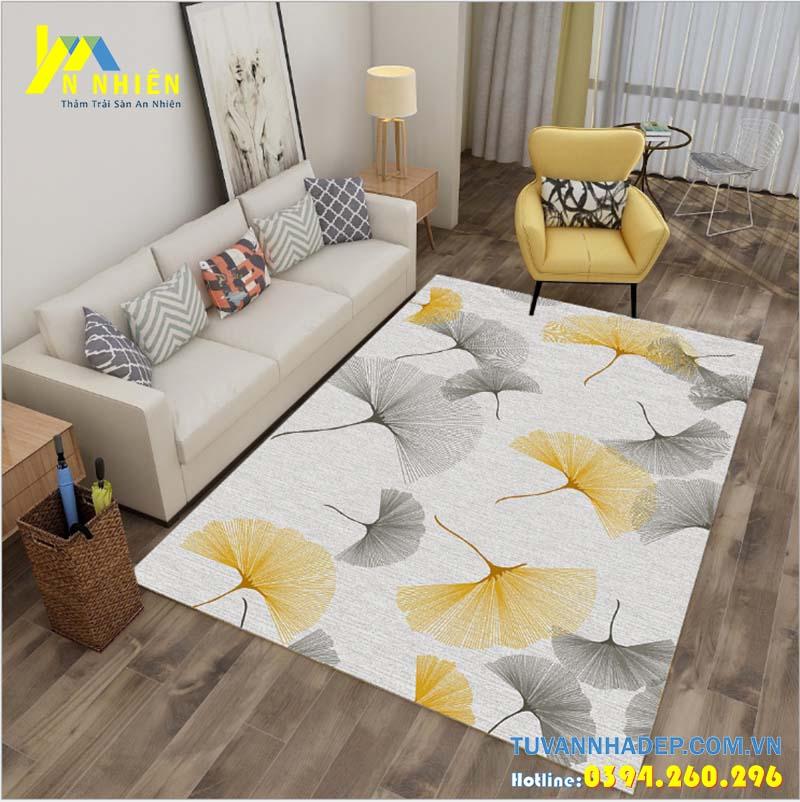 trang trí phòng khách đẹp bằng thảm trải sàn đẹp
