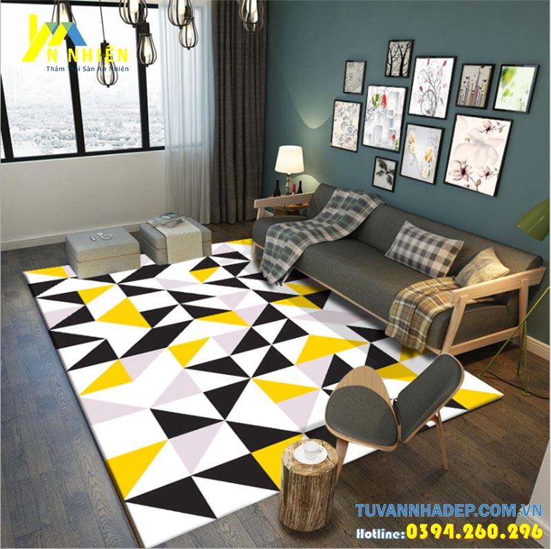 thảm trải sàn cho phòng khách chung cư hiện đại