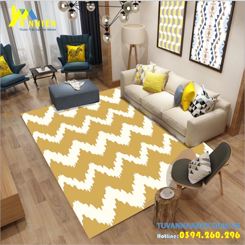 thảm trải sàn phòng khách hiện đại