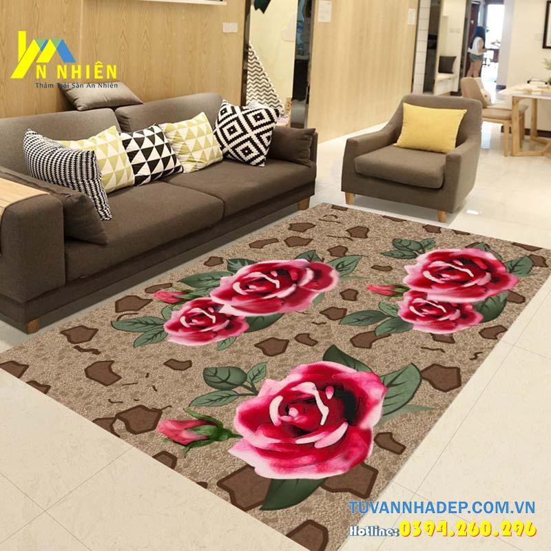 thảm trải sàn hình hoa hồng