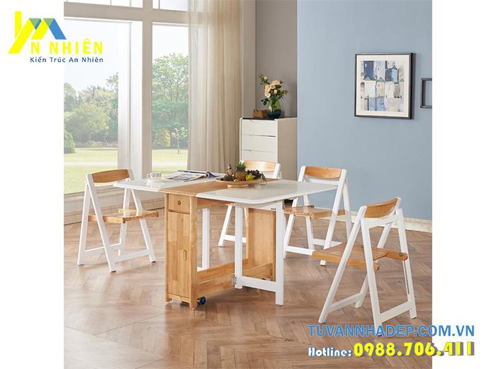 bàn ăn gấp phù hợp cho ngôi nhà nhỏ