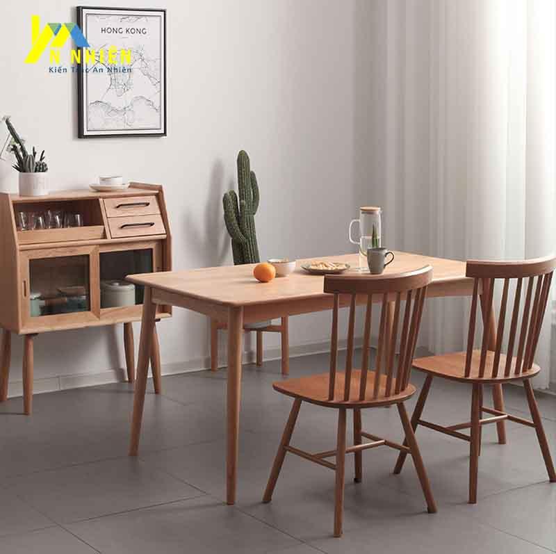 bàn ăn hiện đại gỗ sồi