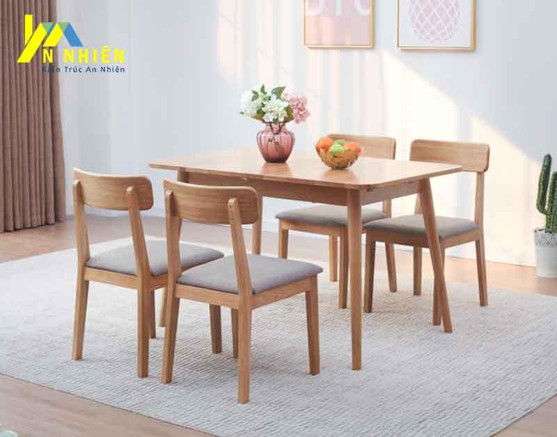 hình ảnh ghế ăn gỗ sồi