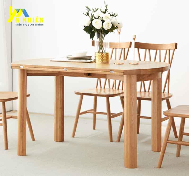 mẫu bàn ăn gỗ sồi đẹp giá rẻ