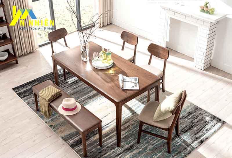 mẫu bàn ăn gỗ sồi đẹp