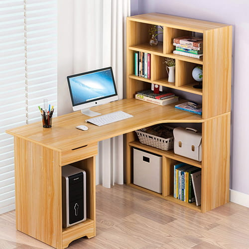 Chất liệu gỗ tự nhiên được sử dụng phổ biến để sản xuất các mẫu bàn làm việc đẹp