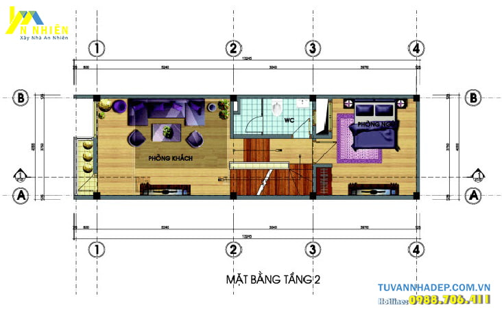 Bố trí nội thất nhà lệch tầng