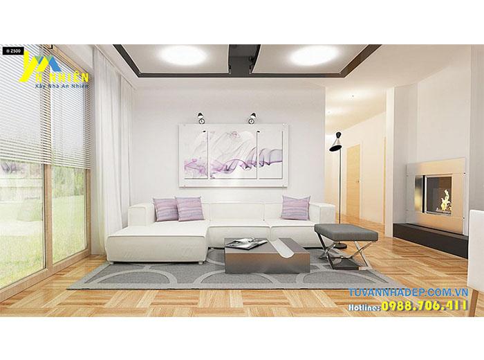 phòng khách theo phong cách hiện đại