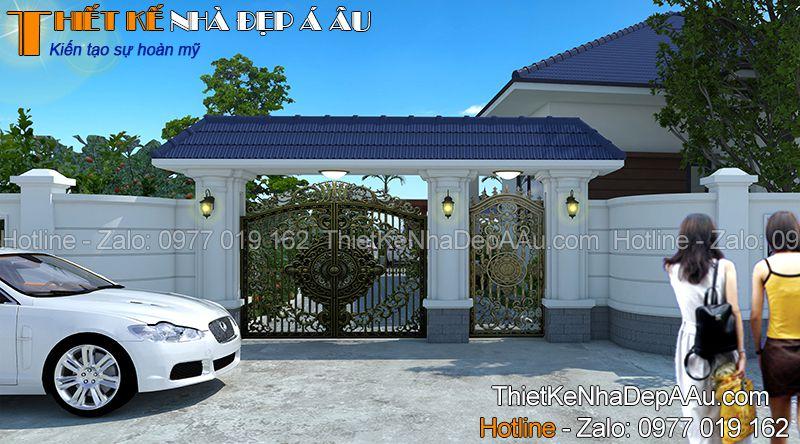 hình ảnh cổng phía trước nhà