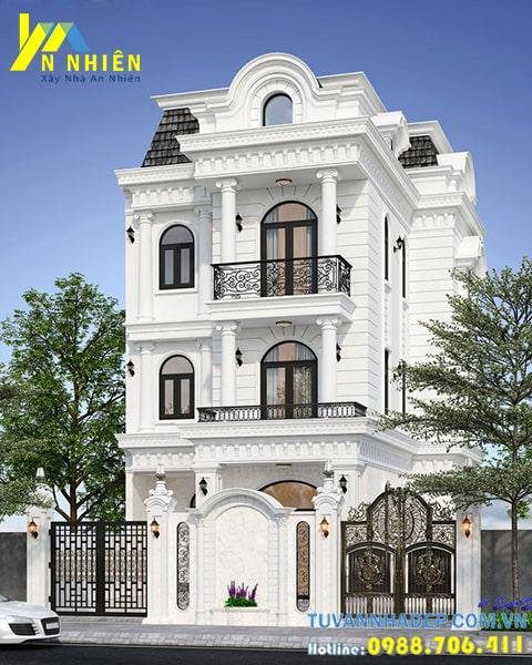 Thiết kế biệt thự 3 tầng mặt tiền 8m