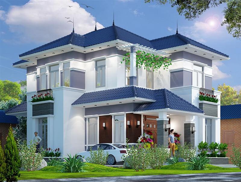 Căn biệt thự hiện đại 2 tầng đẹp