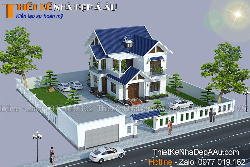 Ý tưởng thiết kế mẫu biệt thự 2 tầng 6 phòng ngủ của gia đình anh Quang