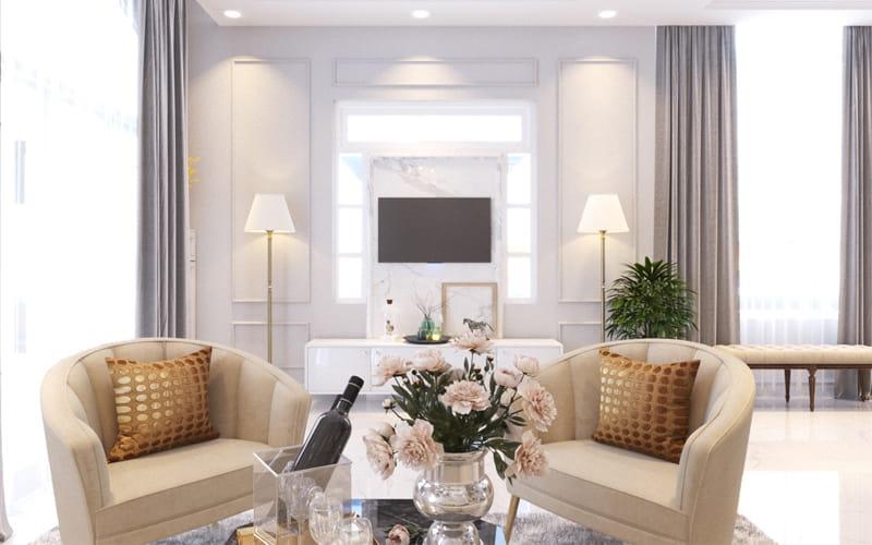 Thiết kế nội thất biệt thự 3 tầng 105m2 đẹp