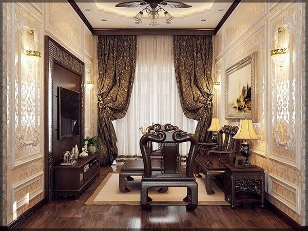 bộ bàn ghế được kê vừa với diện tích căn phòng