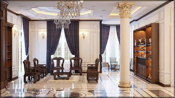 nội thất biệt thự thiết kế theo phong cách tân cổ điển