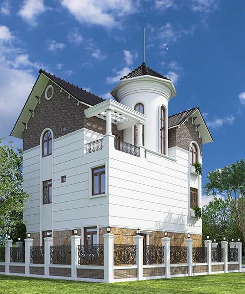 Ấn tượng với kiến trúc biệt thự tân cổ