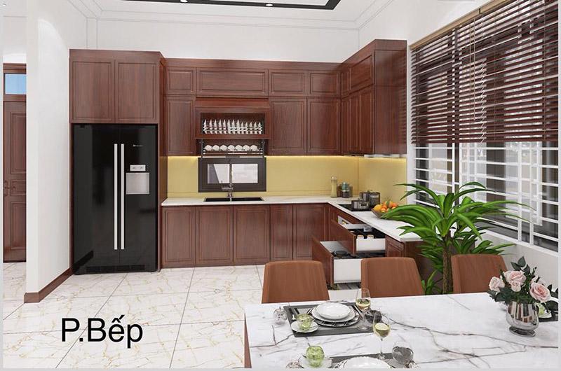 phòng bếp kết hợp phòng ăn