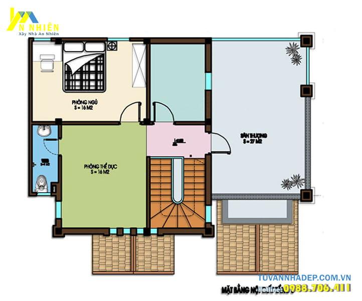 Thiết kế nội thất biệt thự 3 tầng mặt tiền 11m