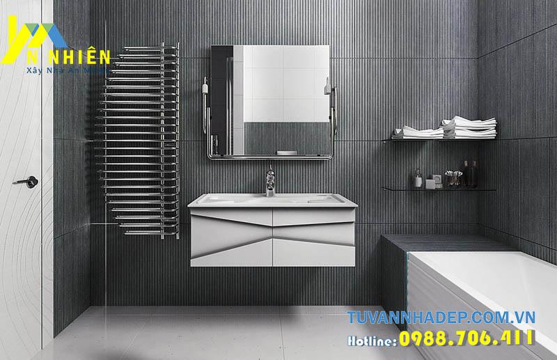 phòng tắm hiện đại trong nhà 1 tầng 100m2