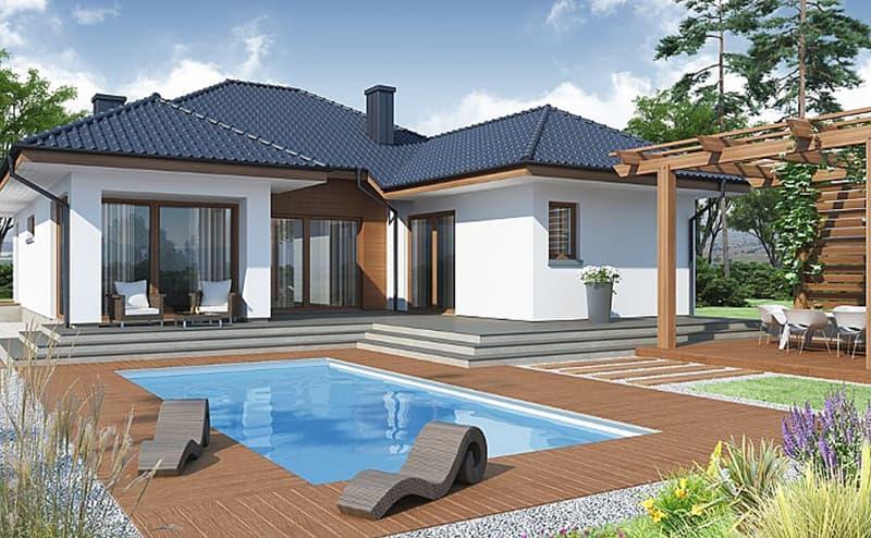 Nhà có hồ bơi hiện đại