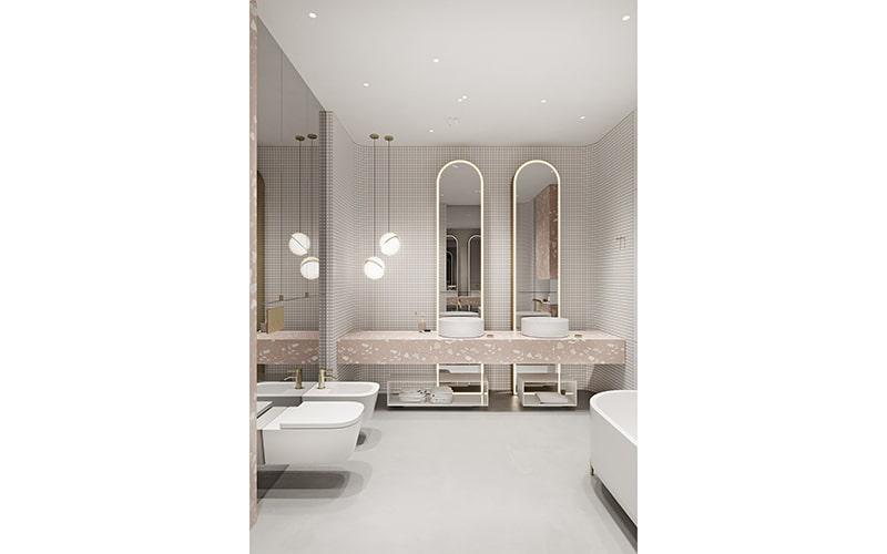 Thiết kế nội thất nhà vệ sinh nhỏ đẹp hiện đại