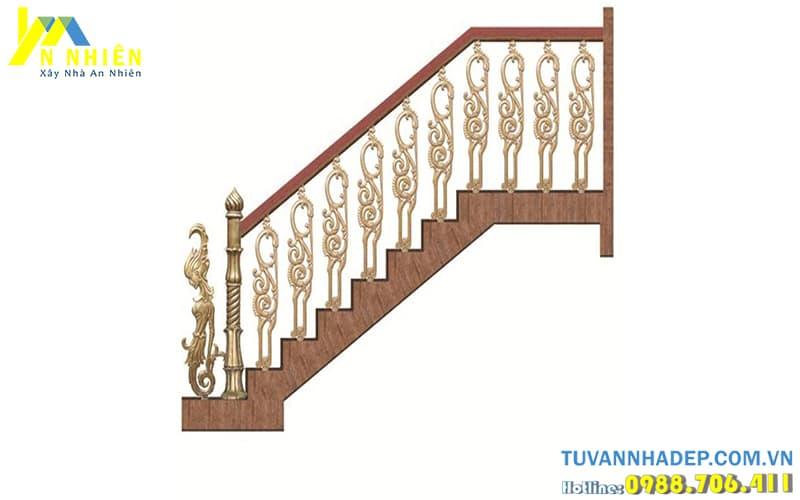 hình ảnh lan can cầu thang đẹp bằng nhôm đúc