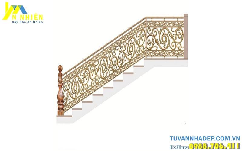 hình ảnh lan can cầu thang bằng nhôm đúc