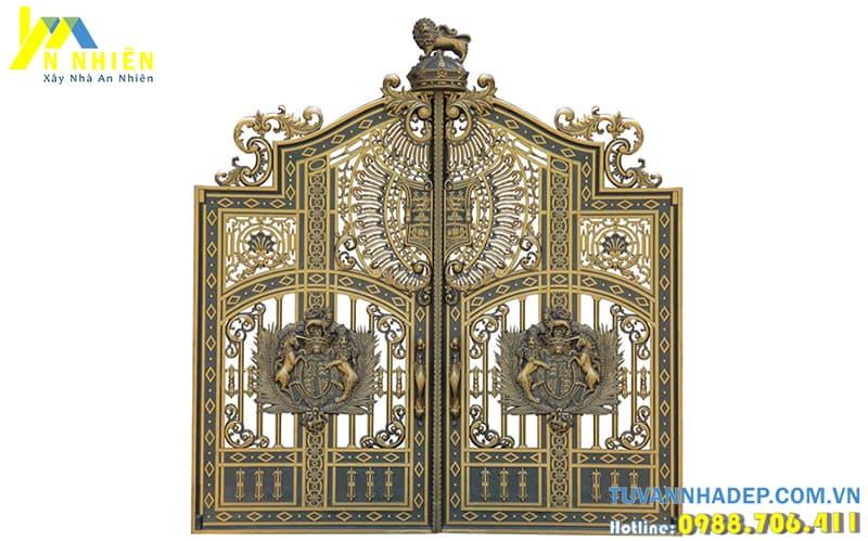 hình ảnh cổng nhôm sang trọng
