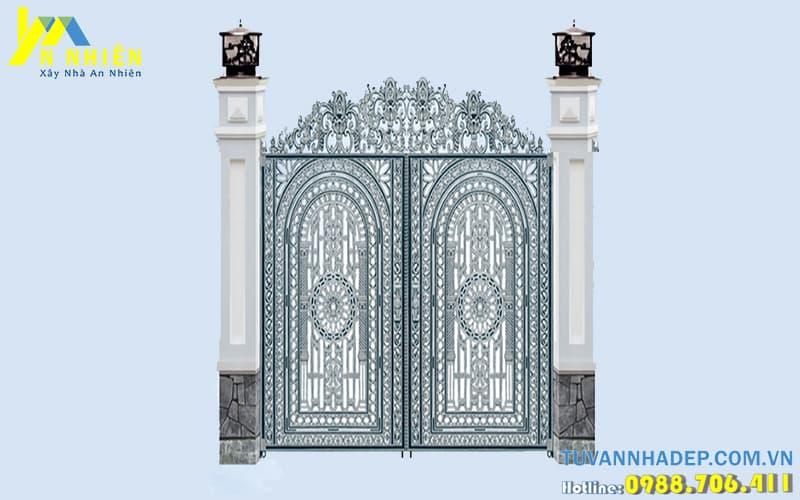 mẫu cổng đẹp bằng nhôm đúc