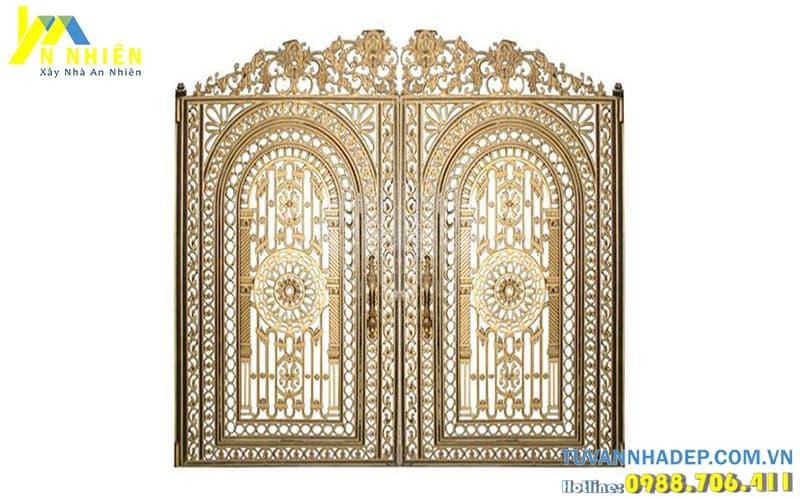 hình ảnh cổng đẹp bằng nhôm