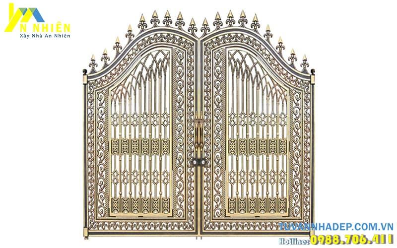 hình ảnh cổng nhôm đúc đẹp