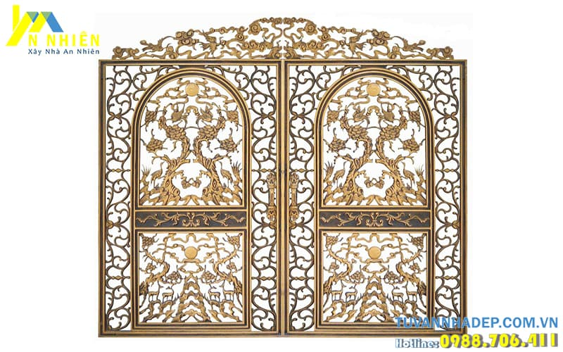 thiết kế cổng nhôm đúc