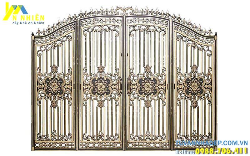 cổng nhôm đúc cho nhà đẹp