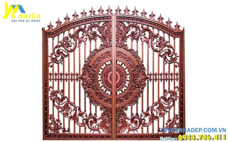 cổng nhôm đúc cho nhà phố