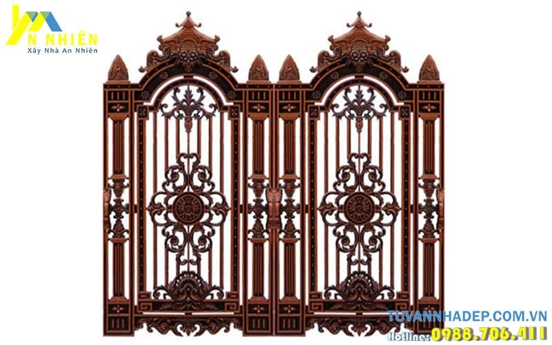 cổng nhôm đúc cho biệt thự cổ điển