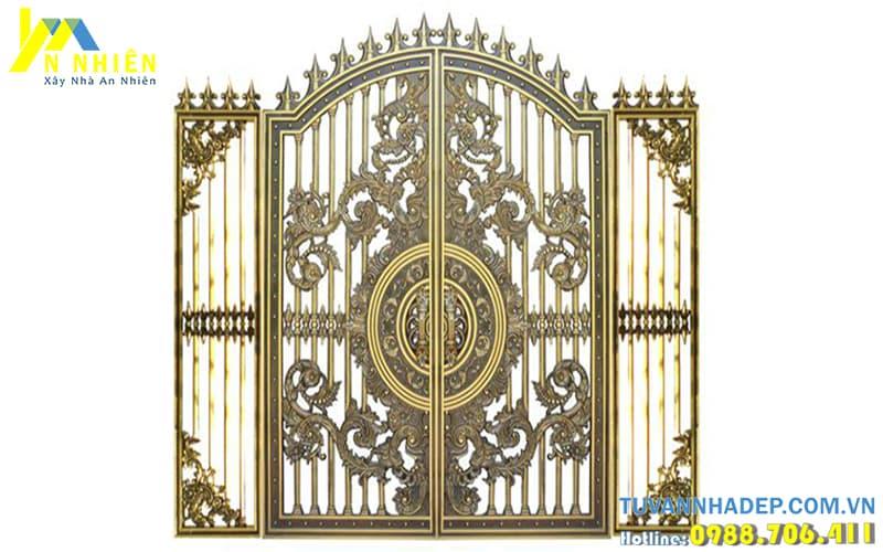 cổng nhôm đúc cho lâu đài